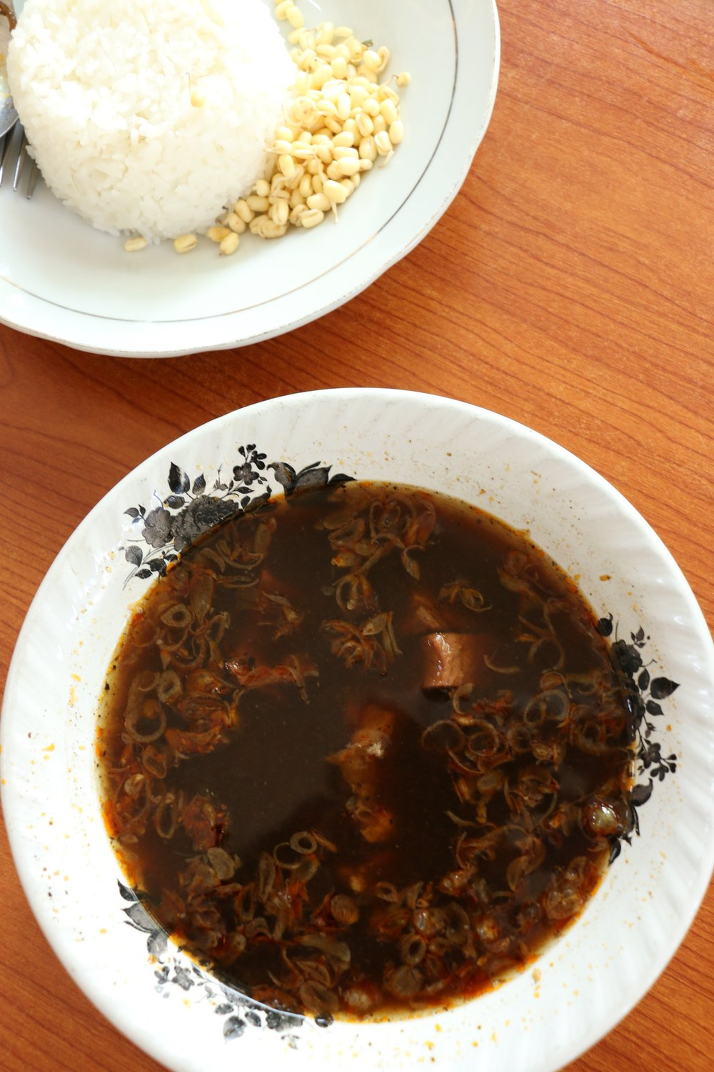 Rawon, a delicious and spicy Indonesian black beef soup.