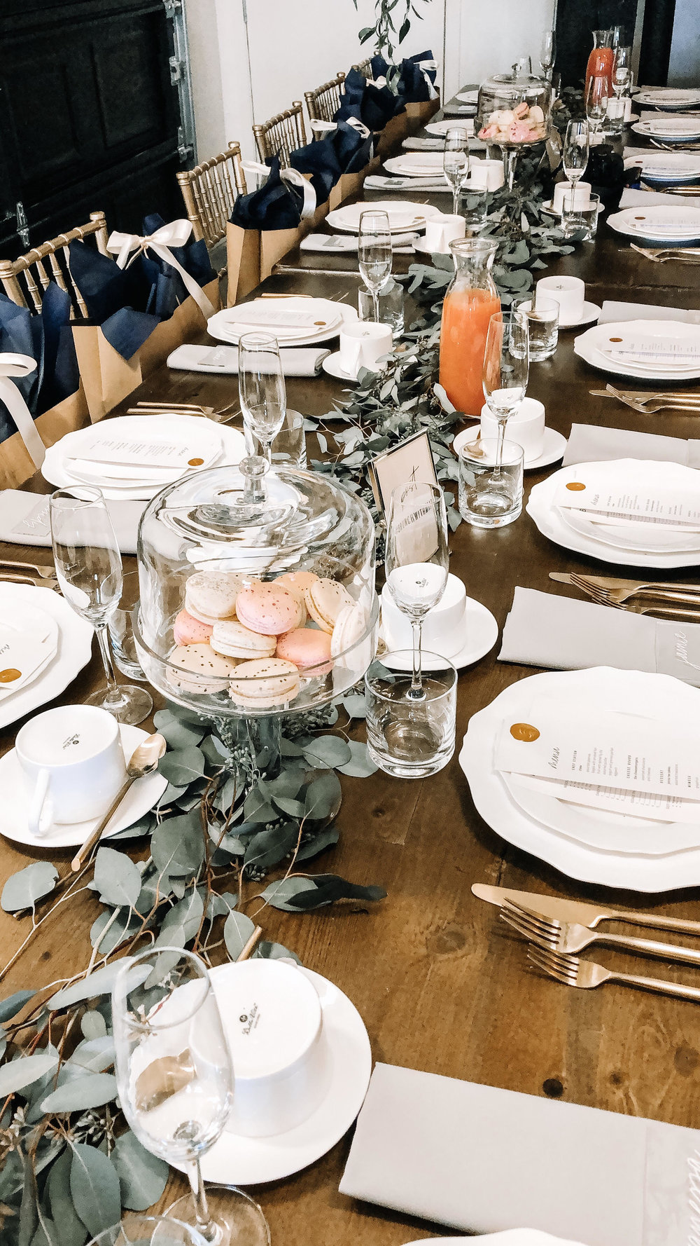 Tables/Chairs/Flatwear - CT Rentals | Macaroons - Jenna Rae Cakes | Menu - Robin Egg Blue Designs