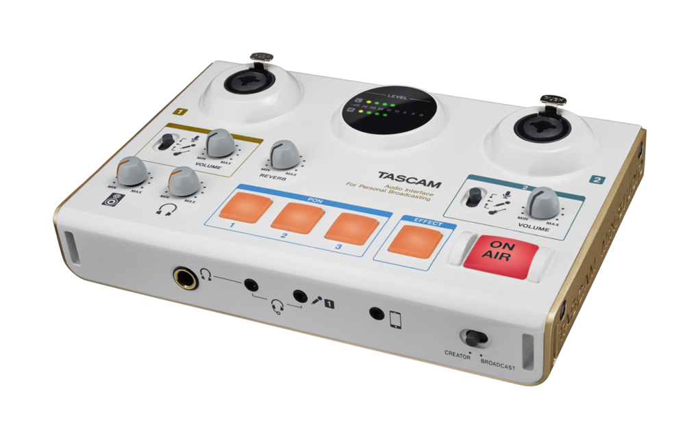 tascam ministudio creator us-42 personal production and online broadcast studio audio interface