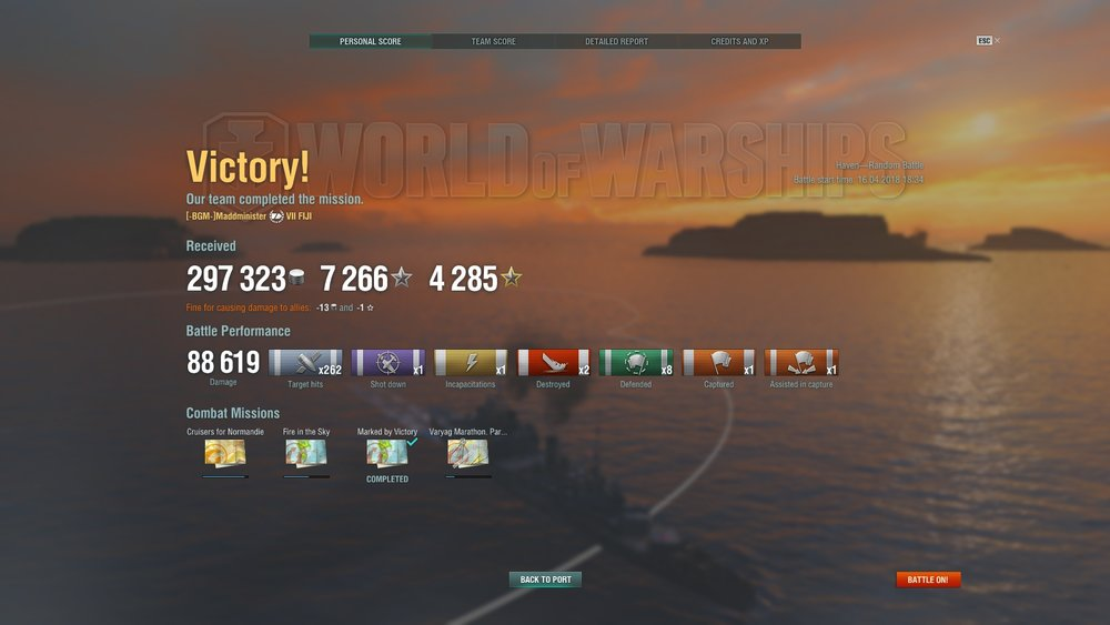 HMS Fiji performing well in tier 9 battle