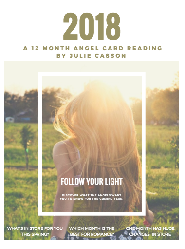 My gift to you. - I have spent some time with the Angels and they have sent me some messages for each month of 2018 that they would like to share with you. In this free Ebook, discover which month is the best for a new romance, which month will have the most success and which will require you to pause your decision.