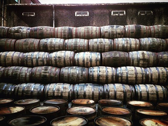 Throw back  to checking out the Bunahabhain barrel delivery on #Islay. #tbt