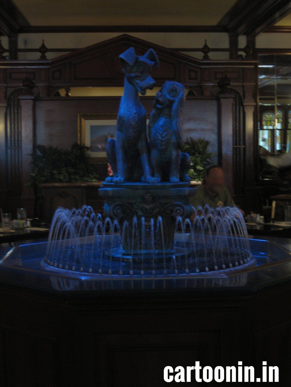 Fountain in the middle of Tony's.
