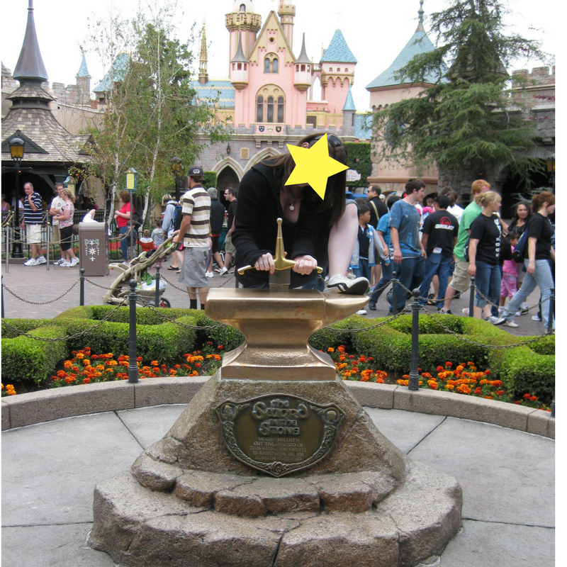 Sword in the Stone at Disneyland. Starred to protect the less than innocent.