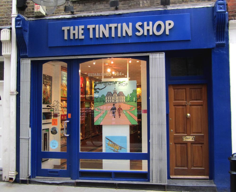 The Tintin Shop in London