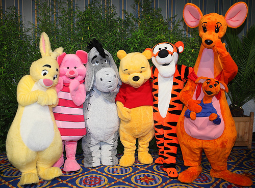 Pooh and Friends at the Disney Parks