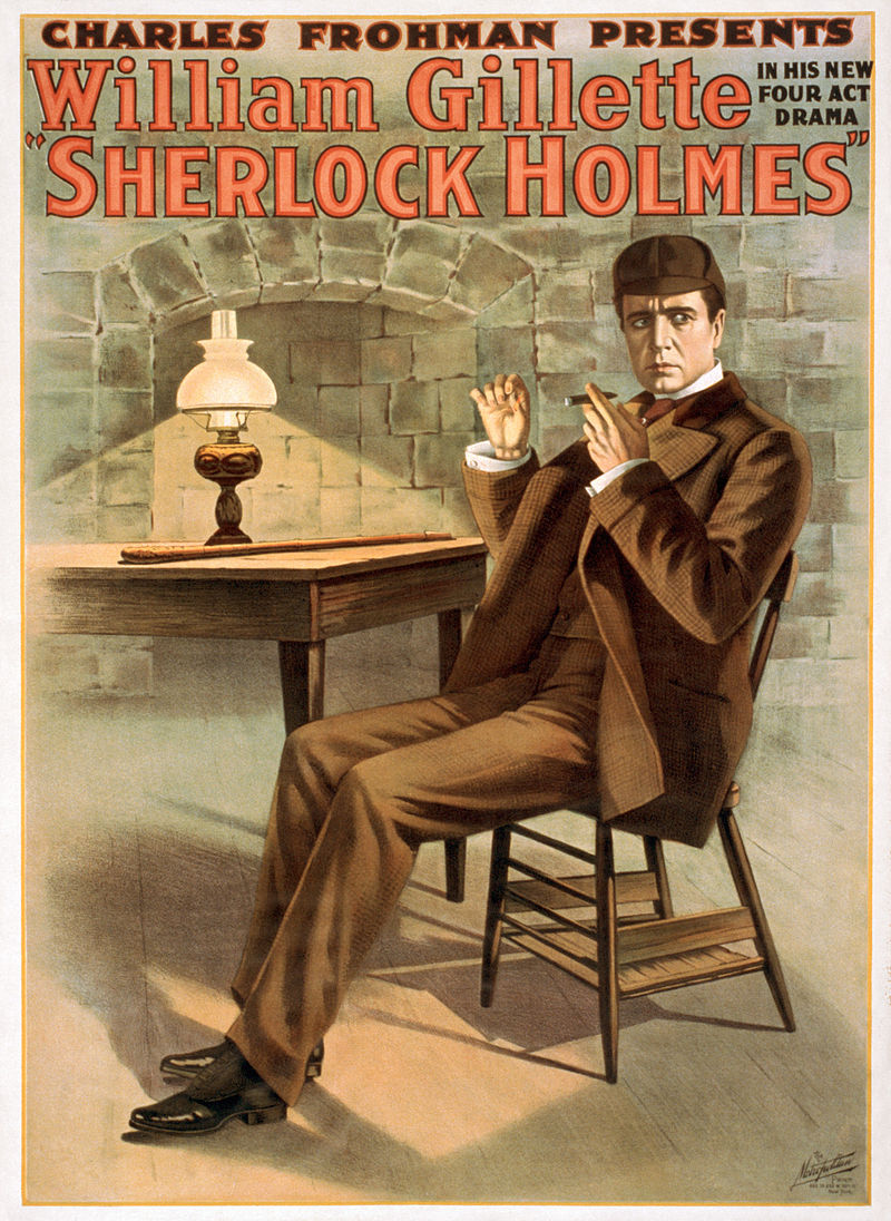William Gillette's poster for his play