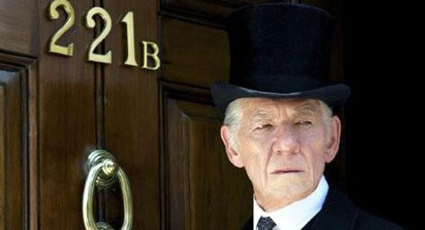 Sir Ian McKellen as an elderly Sherlock in Mr. Holmes