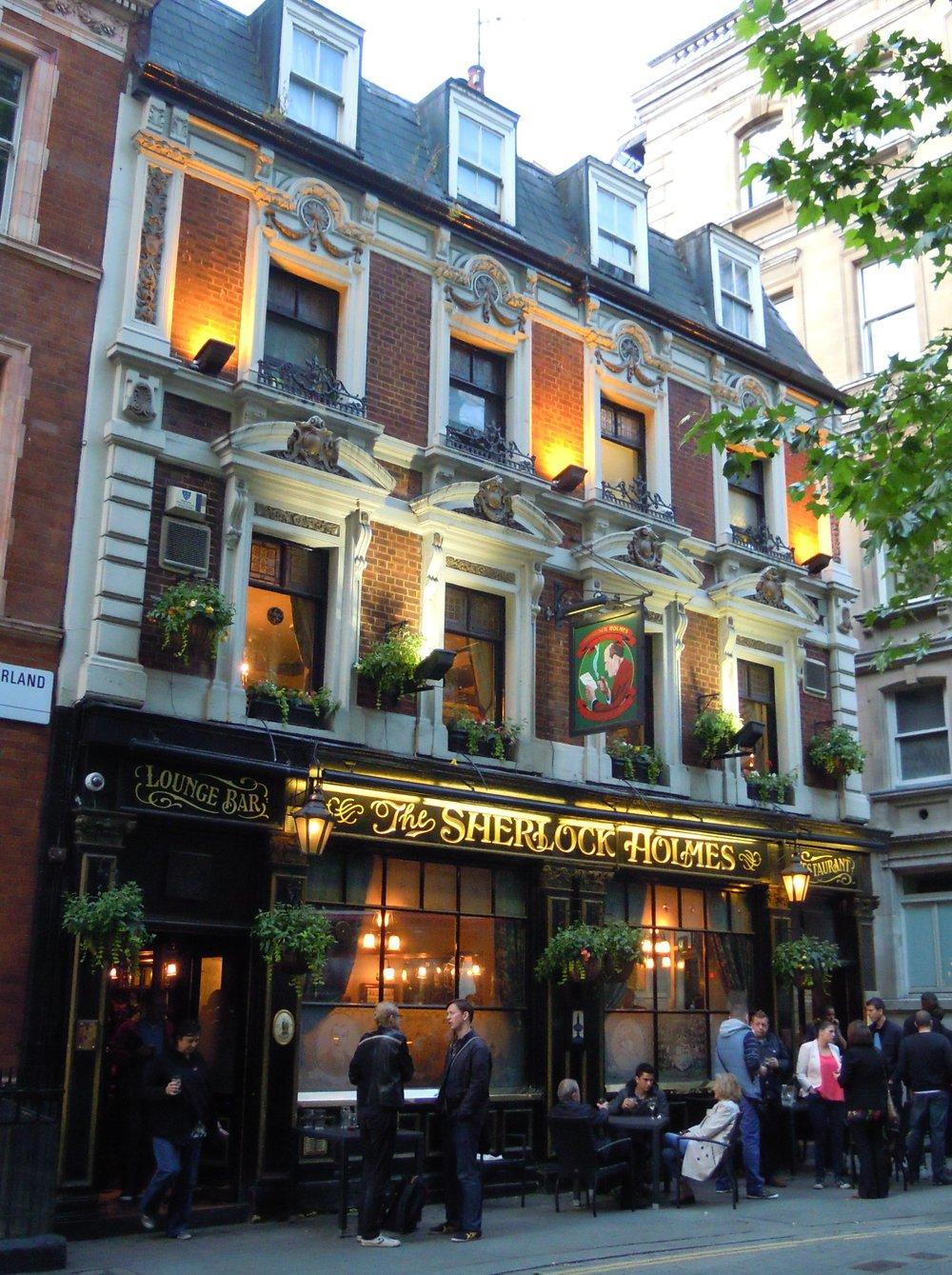 Sherlock Holmes pub exterior