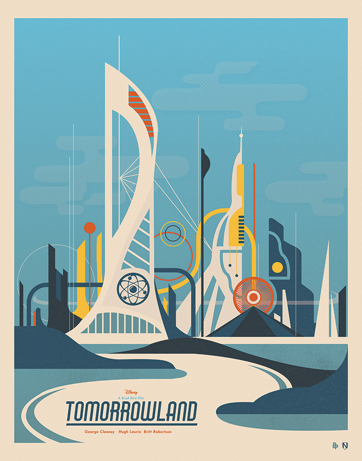 Examples of Retrofuturism in Disneyland Art