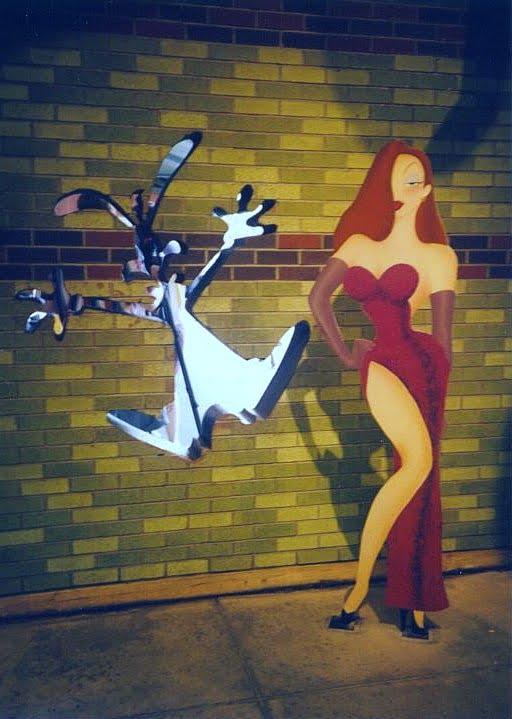 Cardboard cut-out of Jessica