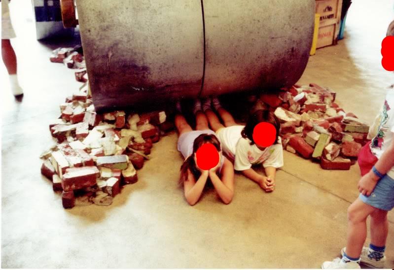 Steamroller photo op