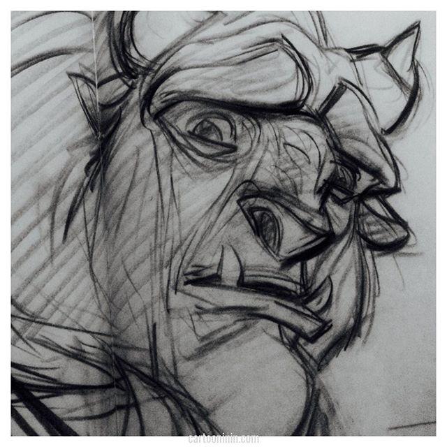 The Beast Art by Glen Keane  Please check out our full Glen Keane spotlight episode at Cartooninin.com/episodes/keane It's part of our lead up to The Little Mermaid! . . . . #glenkeane #keane #beautyandthebeast #beast #thebeast #princeadam #eyes #emotion #disney #characterdesign #disneyanimation #disneygram #disneyart #instadisney #disneyfan #waltdisneystudios #podcast