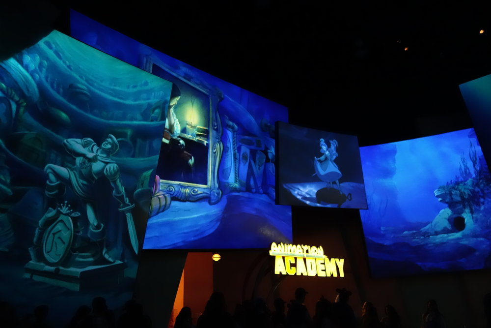 Little Mermaid theme in the Animation Building in California Adventure