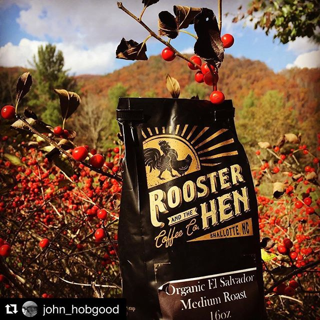 Rooster and the Hen coffee in the wild! Thanks for sharing John! #rooandhencoffee #Repost @john_hobgood ・・・ @rooandhencoffee makes leaving #home a lot easier.... #coffee #GreatSmokyMountains #Shallotte #NorthCarolina