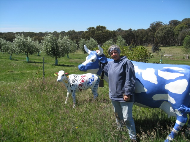 And here is Irene looking after her herd when she has finished the pruning