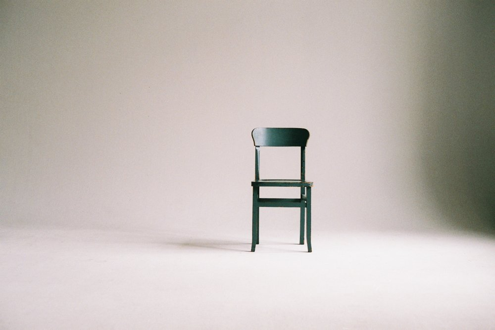 Sometimes there's only one chair…