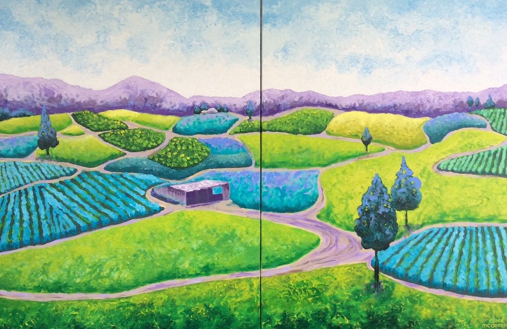 Where The Sun Shines (Diptych) (SOLD)