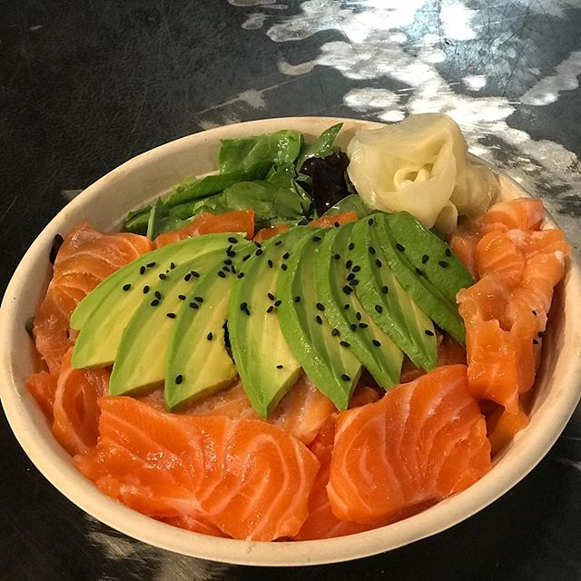Salmon sashimi salad, kick your weekend off right!!!