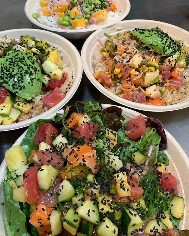 The freshest poke on #salad #brownrice #cauliflowerrice and of course #sushirice sooooo see you tomorrow