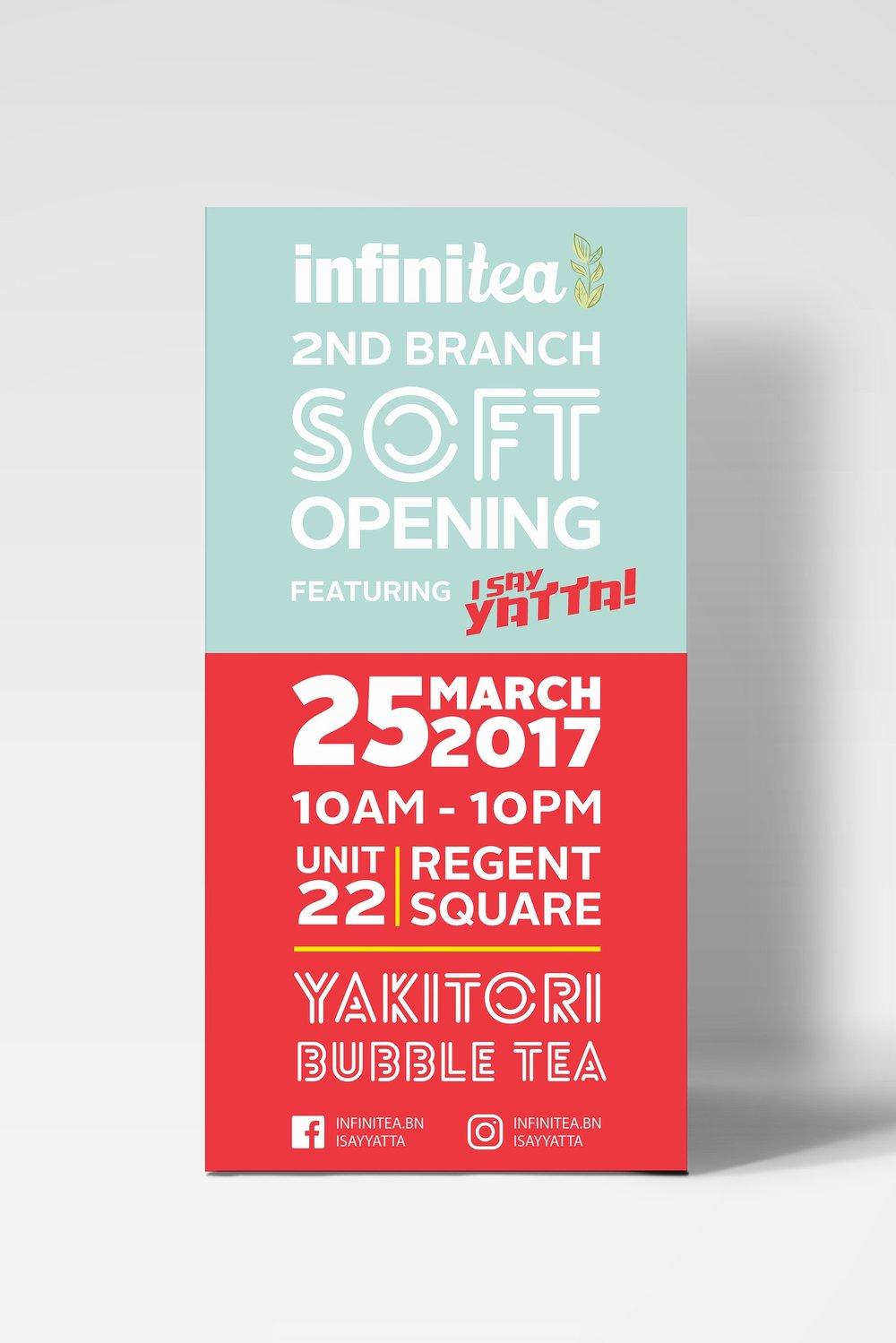 INFINITEA x I SAY YATTA   Print, advertising