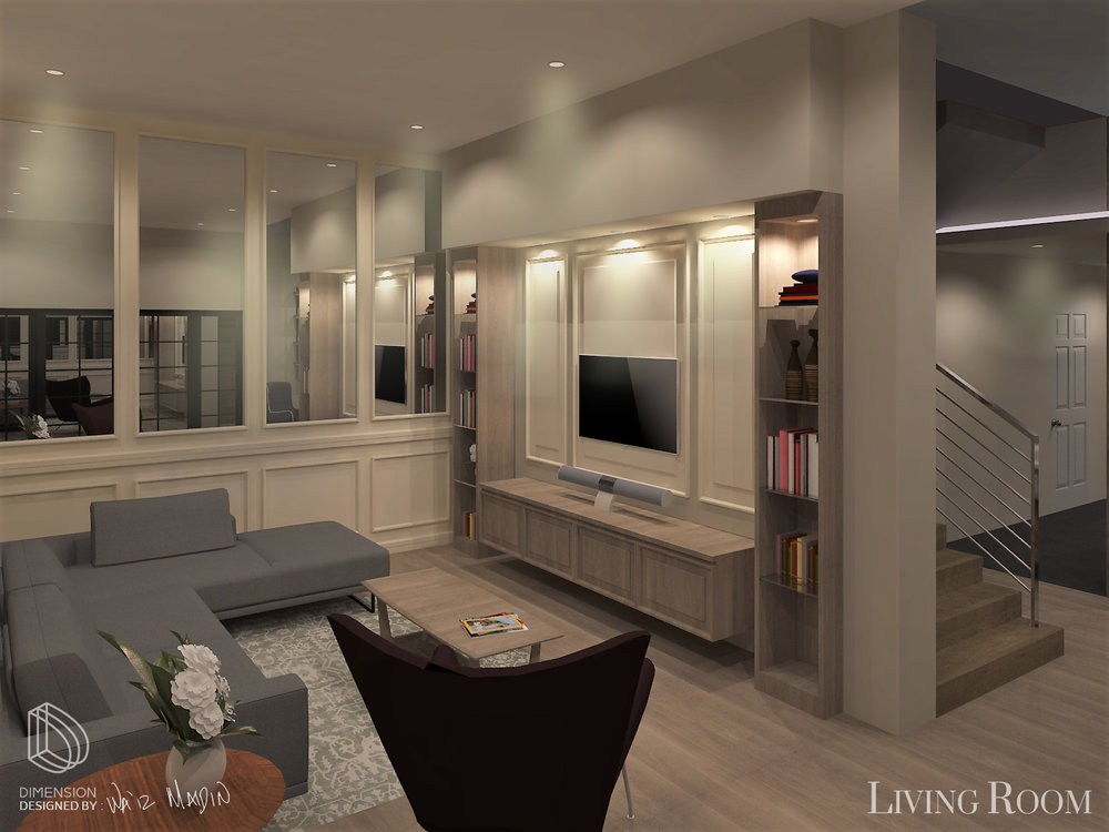 LIVING ROOM AND KITCHEN AREA   Residential