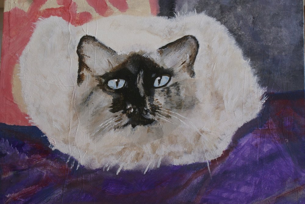 Maggie.           Acrylic on canvas.      Sold