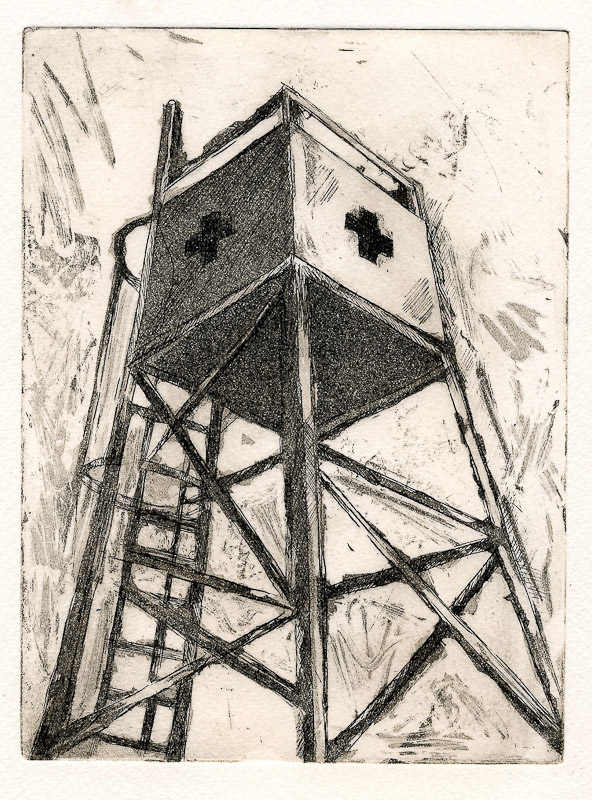 Playa_beach_tower-etching