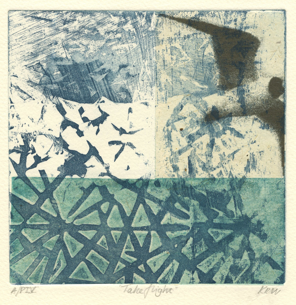 Take_flight-etching_chine_colle