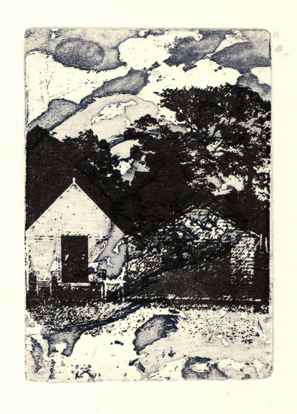 Beach_days_II_beach_hut-etching_and_gocco