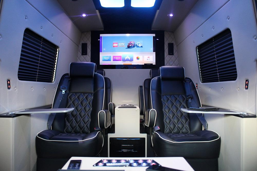 Luxury minibus on Mercedes Sprinter