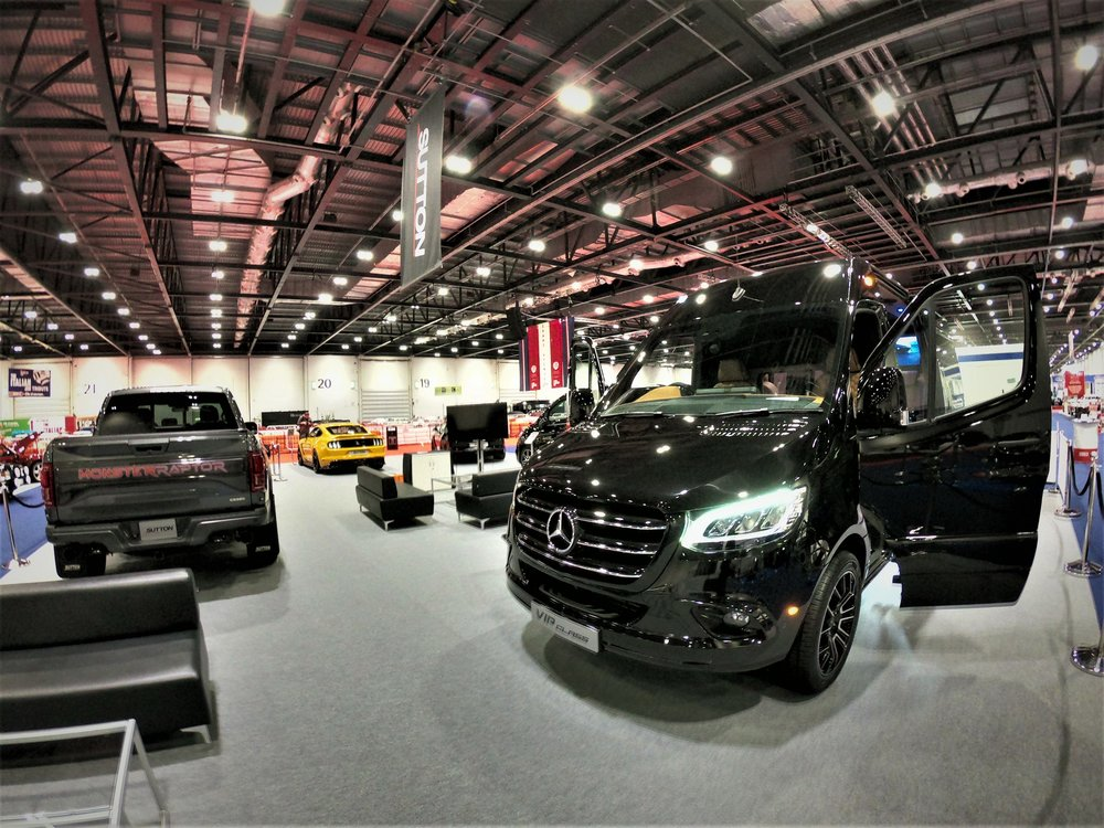 The Sprinter VIP-Class diplayed on the Sutton stand at the London Classic Car Show.