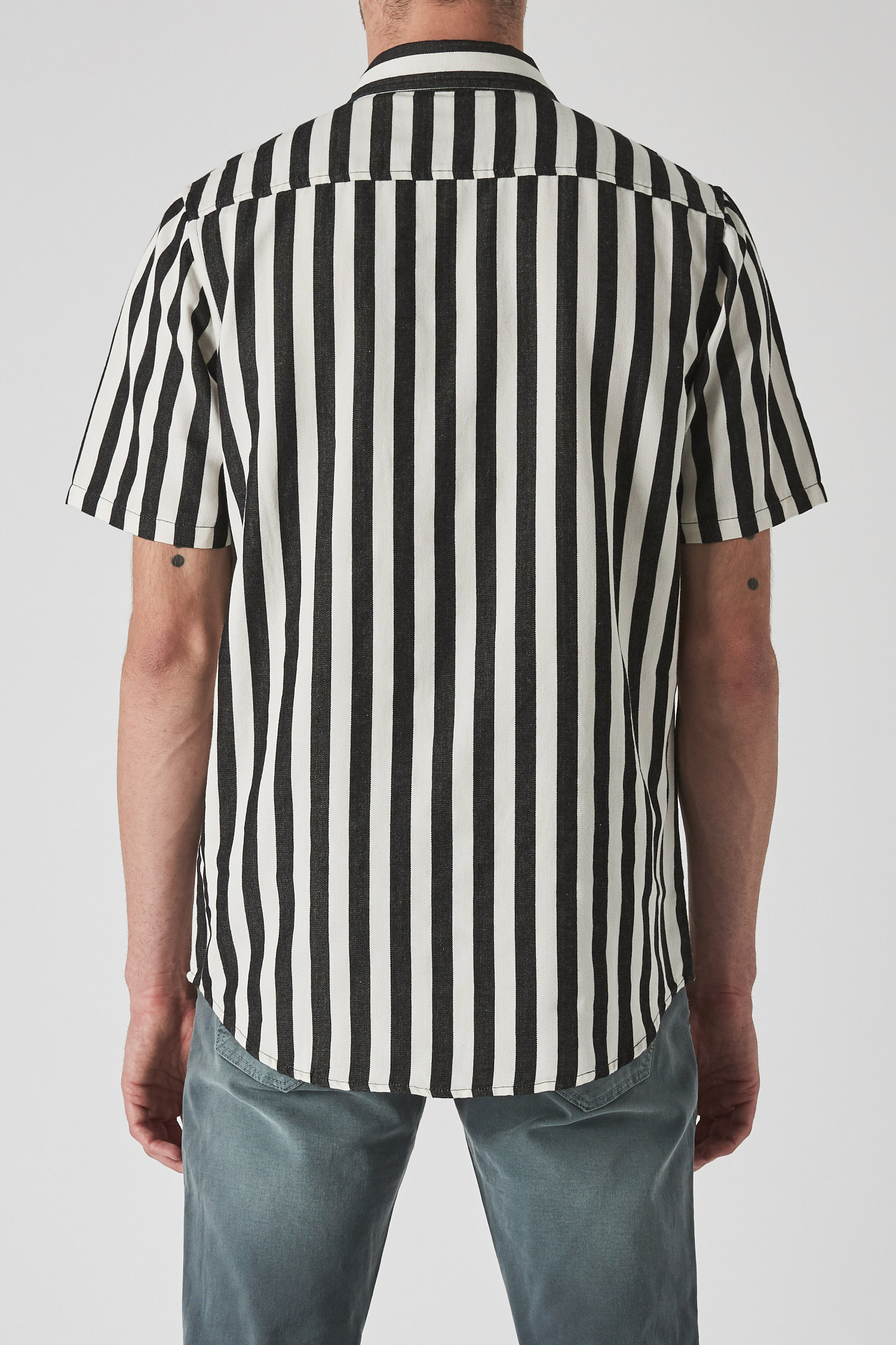 a0c3ab22cc7e0b Work Stripe Shirt - Off White — NEUW