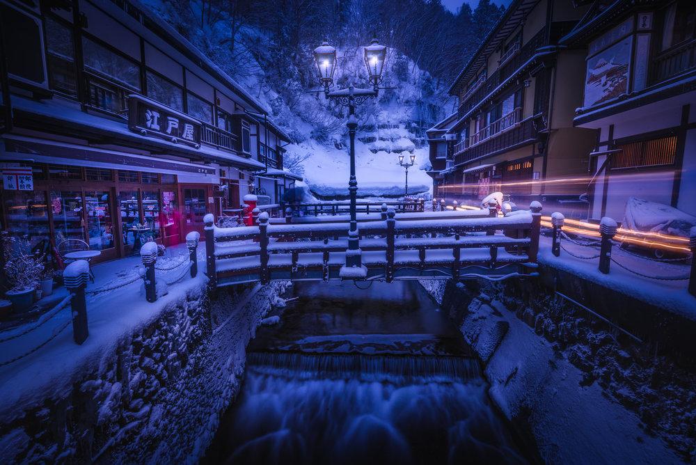 Photo Location: Ginzan Onsen is an onsen area in Obanazawa, Yamagata Prefecture, Japan