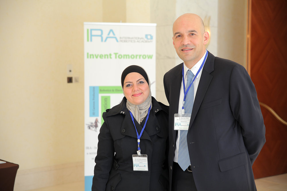 Lama & Ahmad during IRA's 2015 Annual Event.