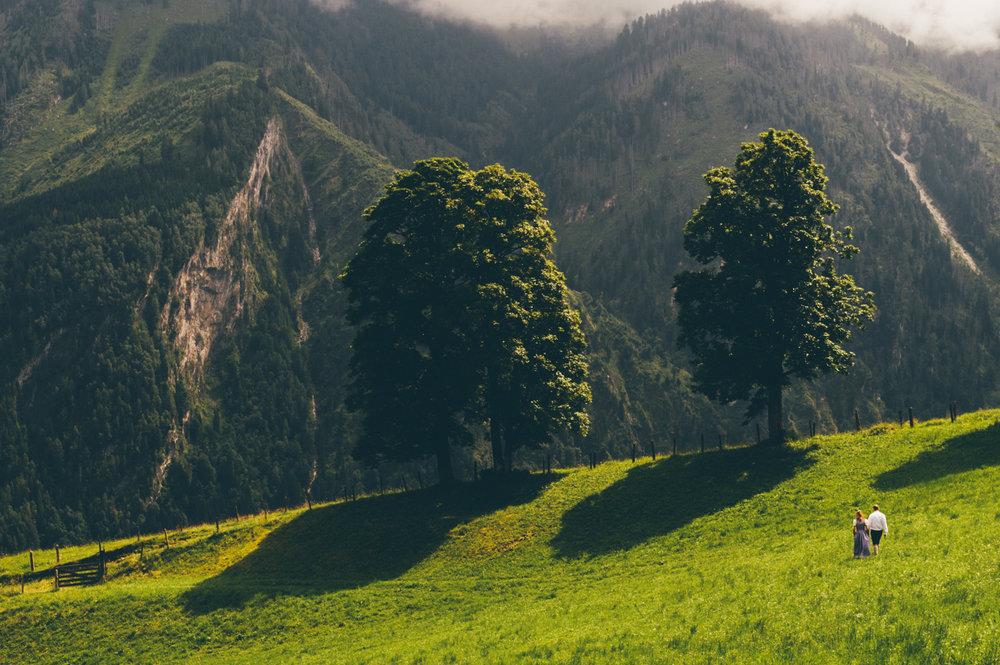 destination wedding photography - austria alps