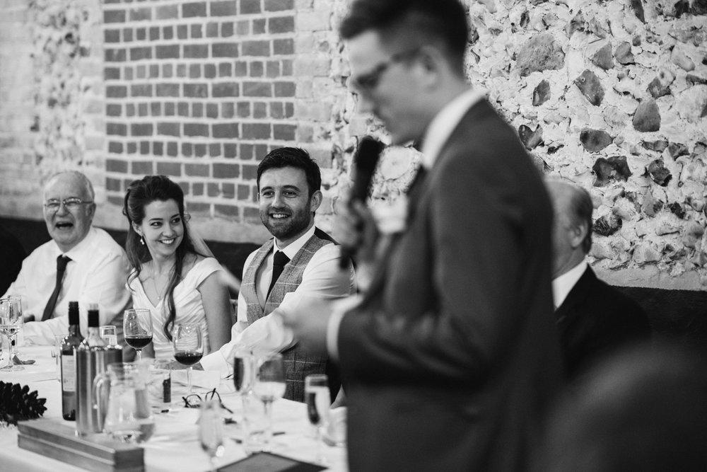 Granary Estates wedding photo - best man's speech