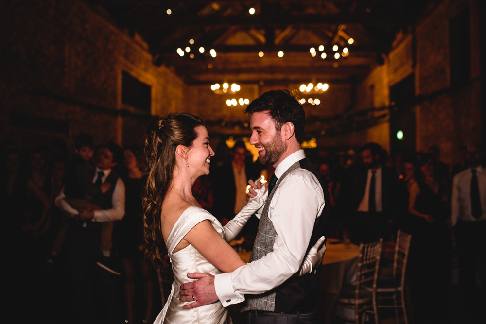 Granary Estates wedding photo - bride and groom's first dance