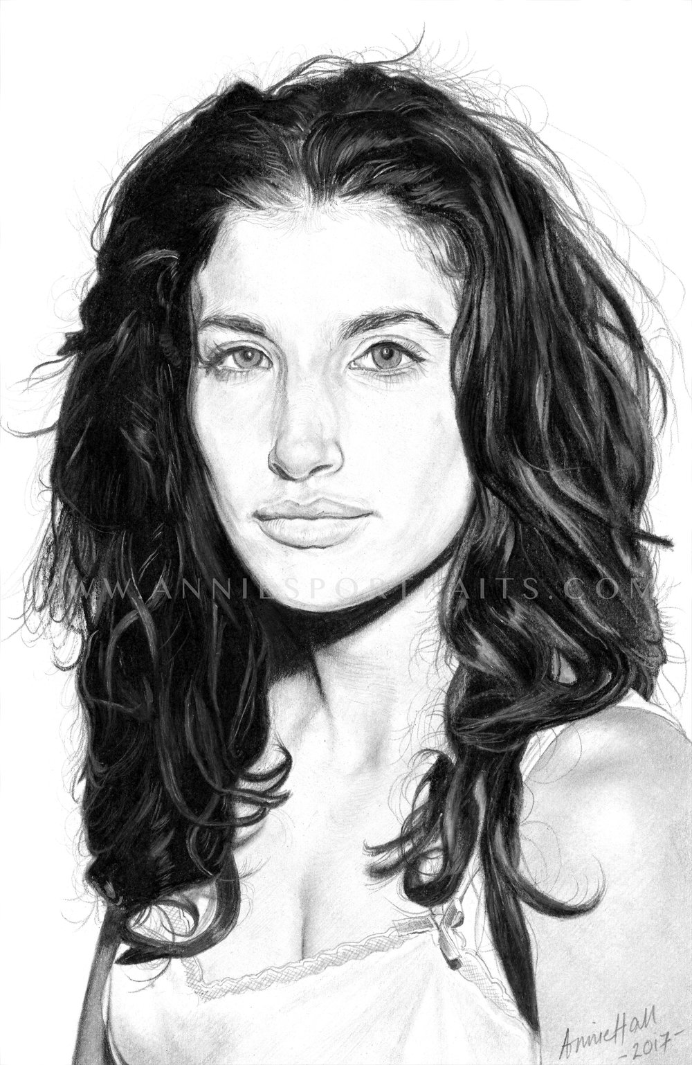 Tania Raymonde, 26 x 17.5 cm (2017) ORIGINAL AVAILABLE TO BUY /Please enquire for pricing * Also available as a limited edition print Small scale drawing of the actress made with pencil. Charcoal and eraser used on the hair to create subtle highlights. Enlarge for more detail.