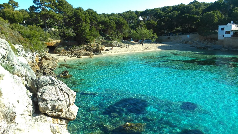 Daily swims in this clear warm aqua-marine water in Mallorca where we stumbled across many secluded beaches perfect for snorkelling