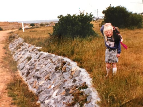 Me, as a young girl on Flinders Island