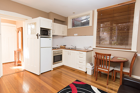 One bedroom apartment. Image by Graham Apartments