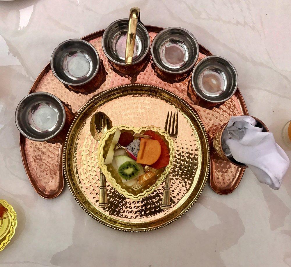 Food fruit plate indian wedding copper.jpg