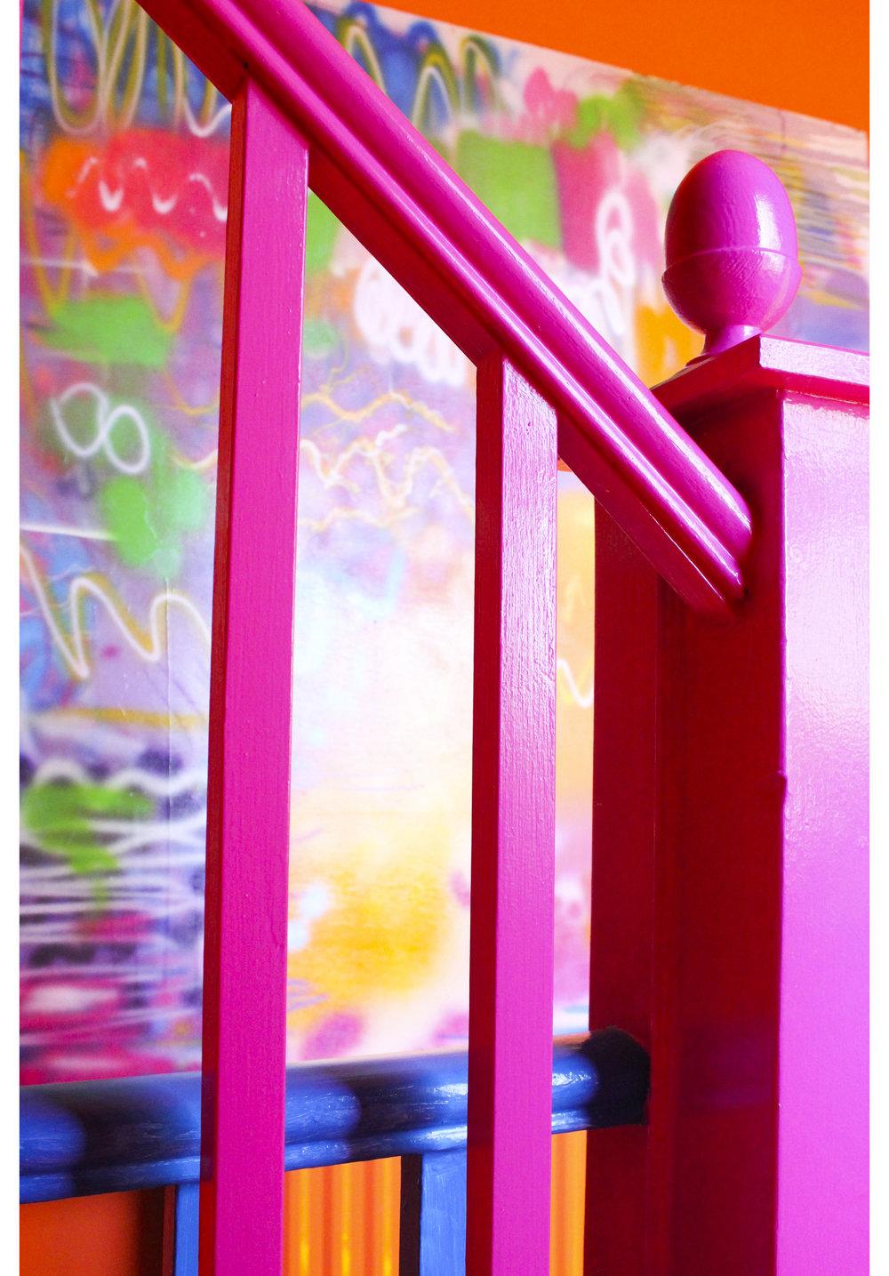 MLH Pink Bannisters Graffiti Pic.jpg