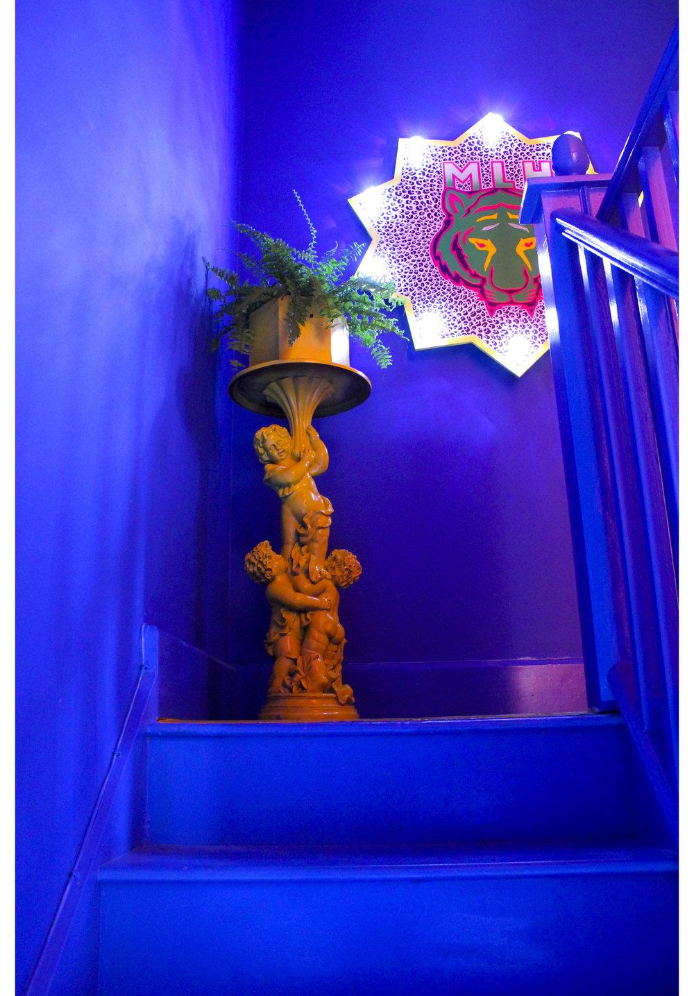 MLH Blue Staircase Cherub Plant Stand.jpg