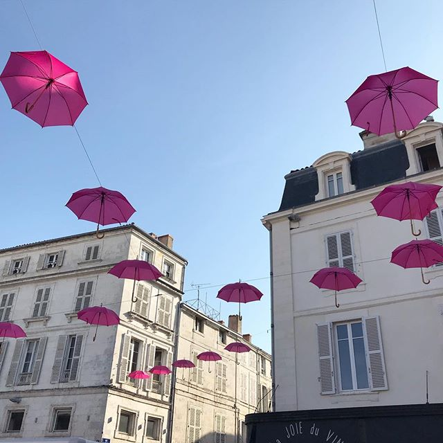 La Rochelle is better than I pictured it would be! It's like a fairytale everywhere you look #kiwiarchitectinfrance #parapluiesroses #larochelle #larochellearchitecture #frencharchitecture