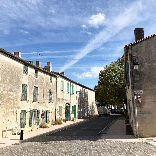 We explored Île de Ré today - I could've spent a week here! Each corner we turned was another dreamy street with green shutters everywhere #didntseeanytrouserwearingdonkeysthough #iledere #saintmartin #frencharchitecture