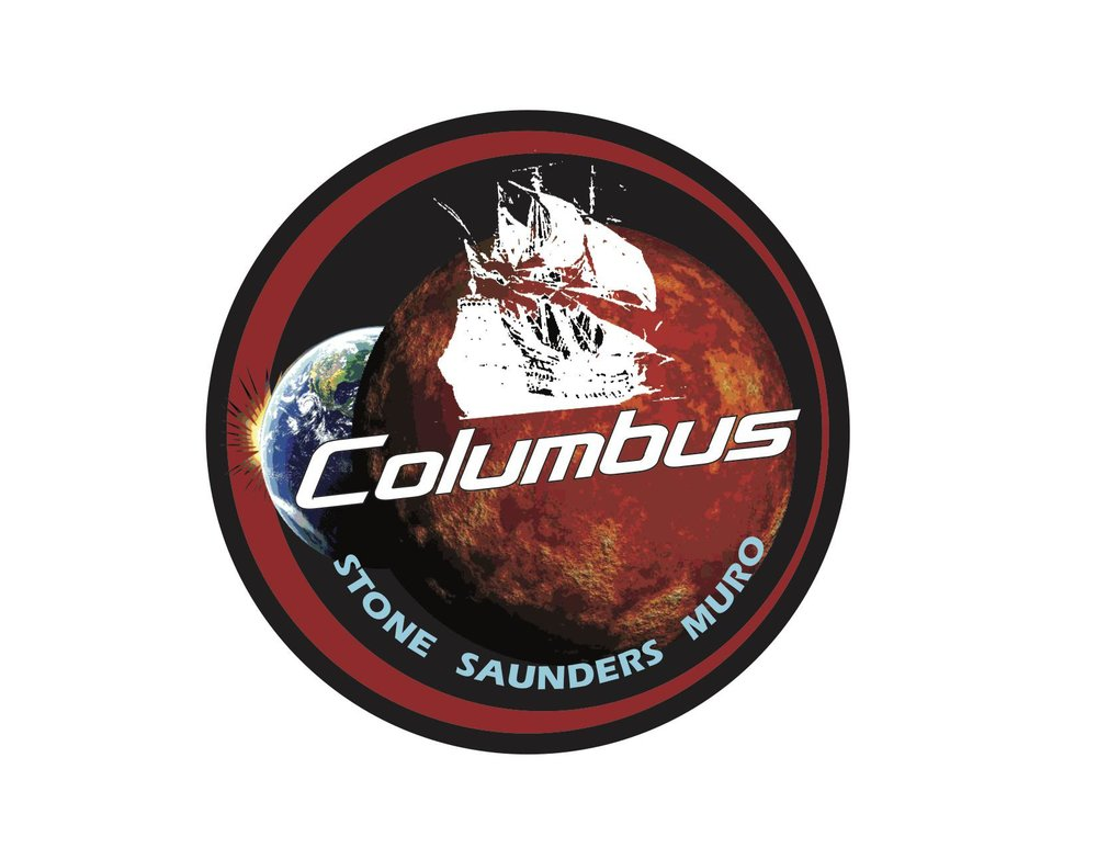 I am currently finishing a screenplay titled Flight of Columbus. This is the patch for the mission with names of the  spacecraft  crew.