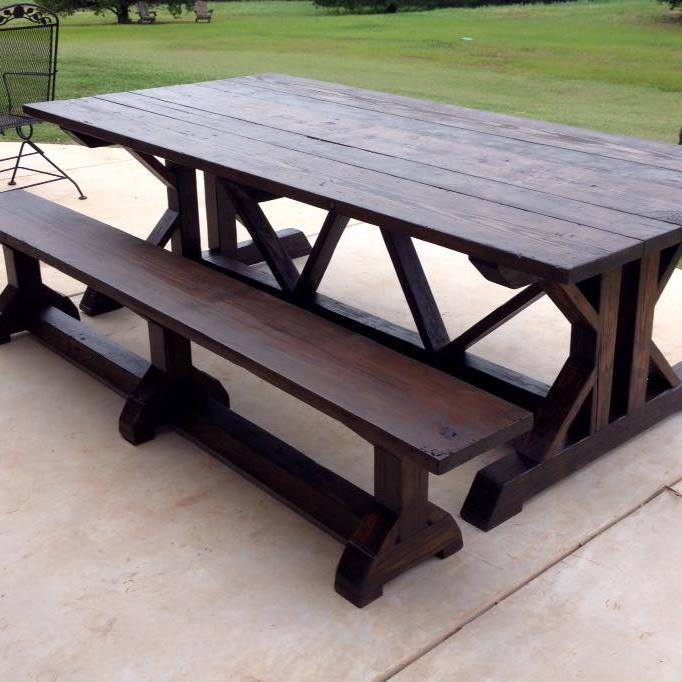 Farmhouse Tables - Interior or Exterior Starting at $80 per foot