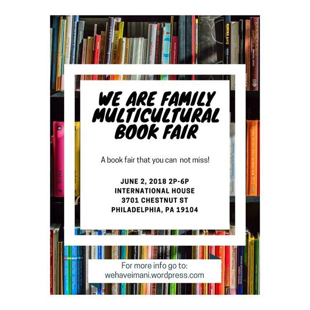 Hey friends! Saturday June 2, 2018 - be sure to come out and meet some of #philadelphia own authors! A family book fair full of fun. There will be raffles, crafts, and games. Meet and greets with the authors plus much more. You guys know I'll be there with plenty of books and tees! #indieauthor #blackauthors #bookclub #supportsmallbusinesses